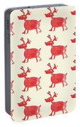 Red Reindeer Pattern Portable Battery Charger