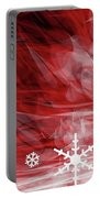 Red Snowflake Portable Battery Charger