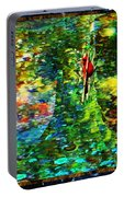 Redbird Singing Songs Of Love In The Tree Of Hope Portable Battery Charger