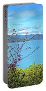 Redbud Beauty Along The Shore Of Shasta Lake Portable Battery Charger