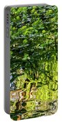 Reflections In Green Portable Battery Charger by Kate Brown