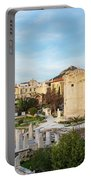 Remains Of The Roman Agora And Tower Of The Winds In Athens Portable Battery Charger