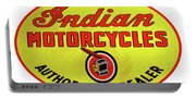 Retro Indian Motorcycles Portable Battery Charger