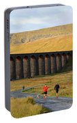 Ribblehead Viaduct In Late Autumn North Yorkshire Portable Battery Charger