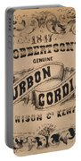 Robbertson's Kentucky Bourbon Cordial Ad C. 1857 Portable Battery Charger