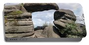 Rock Gate In The Nature Reserve Broumov Walls Portable Battery Charger