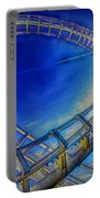 Roller Coaster Ocean City Md Portable Battery Charger by Paul Wear