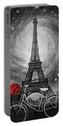 Romance At The Eiffel Tower Portable Battery Charger