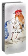 Rooster Butts Portable Battery Charger by Clyde J Kell