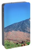 Roque Cinchado In Front Of Mount Teide Portable Battery Charger