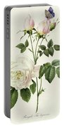 Rosa Bengale The Hymenes By Redoute Portable Battery Charger