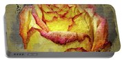 Rose Painting Portable Battery Charger