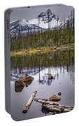 Round Lake Reflection Portable Battery Charger