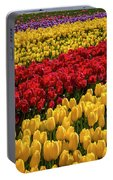 Row After Row After Row Of Tulips Portable Battery Charger