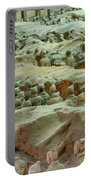 Rows Of Terra Cotta Warriors In Pit 1 Portable Battery Charger
