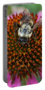 Rudbeckia Coneflower With Bee, Canada Portable Battery Charger