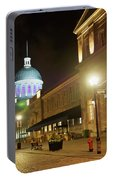Rue Saint Paul In Old Montreal At Night Portable Battery Charger