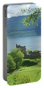 ruins of castle Urquhart on loch Ness Portable Battery Charger