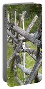 Russel Fence Portable Battery Charger by Ann E Robson