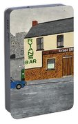 Ryans Pub And Swords Castle Painting Portable Battery Charger