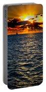 Sailboat Sunburst Portable Battery Charger