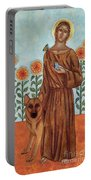Saint Francis And The Wolf Of Gubbio Portable Battery Charger