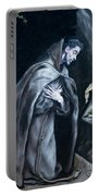 Saint Francis Kneeling In Meditation Portable Battery Charger