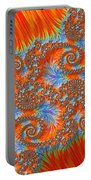 Saint Georges Vanquished Dragon Fractal Abstract Portable Battery Charger by Rose Santuci-Sofranko