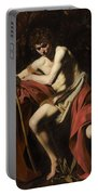 Saint John The Baptist In The Wilderness             Portable Battery Charger