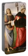 Saint John The Evangelist And Saint Augustine Portable Battery Charger
