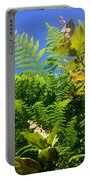 Salal Blooms Amongst The Ferns Portable Battery Charger