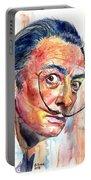Salvador Dali Portrait Portable Battery Charger