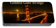 San Francisco Golden Gate Bridge At Night Portable Battery Charger