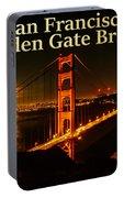 San Francisco Golden Gate Bridge At Night Portable Battery Charger