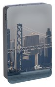 San Francisco Past The Bay Bridge Portable Battery Charger