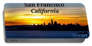 San Francisco Sunrise 16x9 Portable Battery Charger
