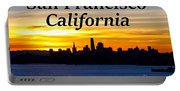 San Francisco Sunrise 2x3 Portable Battery Charger