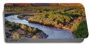 San Juan River At Sunrise Portable Battery Charger