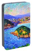 San Sebastian Spain Modern Impressionism Textural Impasto Knife Oil Painting By Ana Maria Edulescu Portable Battery Charger