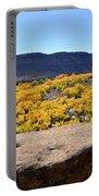 Sandstone Above Golden River Desert Landscape Portable Battery Charger
