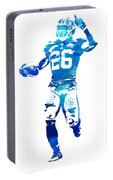 Saquon Barkley New York Giants Water Color Pixel Art 10 Portable Battery Charger