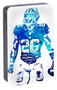 Saquon Barkley New York Giants Water Color Pixel Art 11 Portable Battery Charger