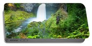 Scenic View Of Waterfall, Portland Portable Battery Charger