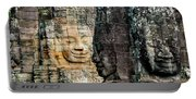 Sculptures At Bayon Temple, Angkor Portable Battery Charger