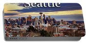 Seattle From Kerry Park Portable Battery Charger