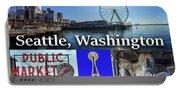 Seattle Washington Waterfront 02 Portable Battery Charger