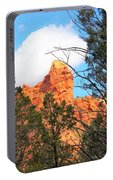 Sedona Adobe Jack Trail Blue Sky Clouds Trees Red Rock 5130 Portable Battery Charger