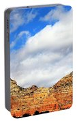 Sedona Jack's Trail Blue Sky, Clouds Red Rock Hills 5032 3 Portable Battery Charger