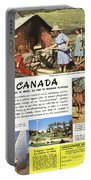See Canada, So Near In Miles, So Far In Foreign Flavour 1949 Ad By Canadian Government Travel Bureau Portable Battery Charger