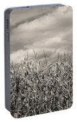 Sepia Field Of Corn Portable Battery Charger